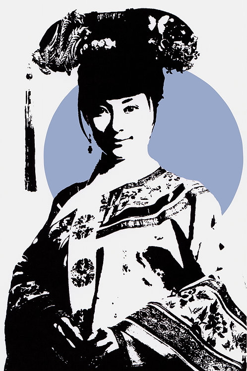 Blue Chinese princess from Agent X at Deep West Gallery