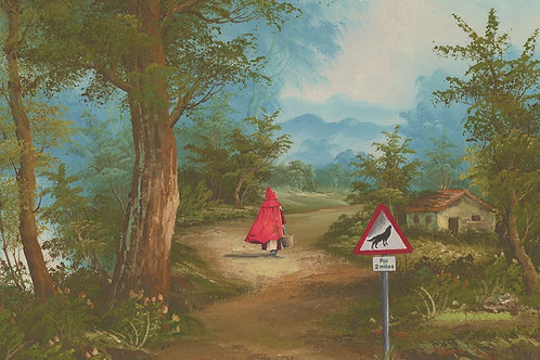 Red riding hood print, contemporary  art and pop art by Haus of Lucy at Deep West Gallery