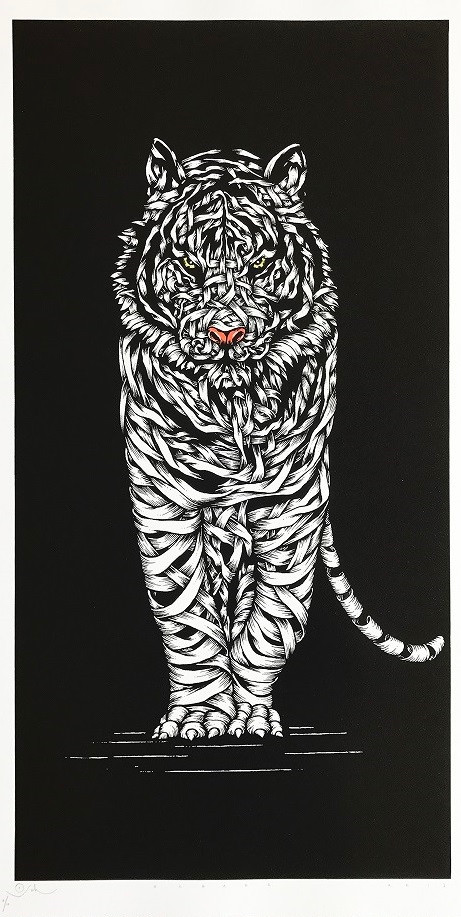 TIGER THREAT, white