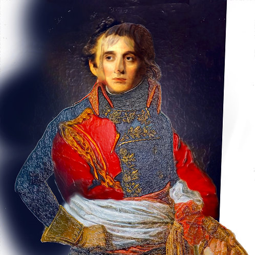 Napoleon portrait digital painting canvas, Pop art by Gordon Coldwell at Deep West Gallery