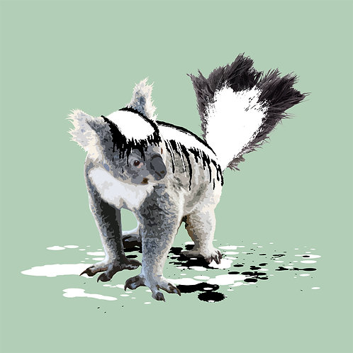 Koala, Skunk, Giclee print, Pop art, Urban art,  by Carl Moore at Deep West Gallery