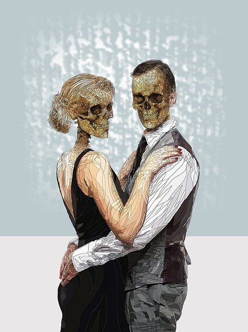 Danse and Macabre print with acrylic sheet from Paul Kingsley Squire Urban art artwork at Deep West Gallery