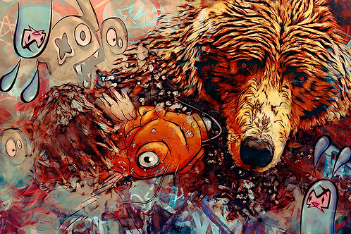 Urban Grizzly - Urban art -  by Deadmansdust at Deep West Gallery