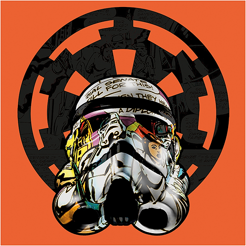 Solo Trooper from Star Wars giclee print, digital art & Pop art by David Williamson at Deep West Gallery