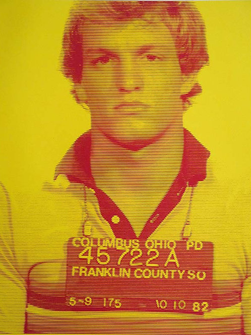 Woody Harrelson Silk print, urban art by David Studwell at Deep West Gallery