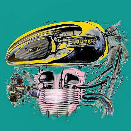 Marilyn, engine, motocyle, Giclee print from Tony Leone, Digital and Pop art artwork at Deep West Gallery