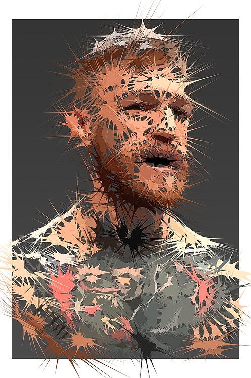 American Fighter portrait, Digital art, urban artwork by Andrea Visconti at Deep West Gallery