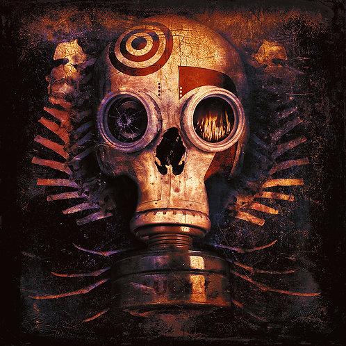 Gas Mask - Skull - Dark art -urban art by Deadmansdust at Deep West Gallery