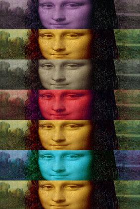 Monalisa Portrait,  giclee print - Metrov. contemporary artwork ,at Deep West Gallery