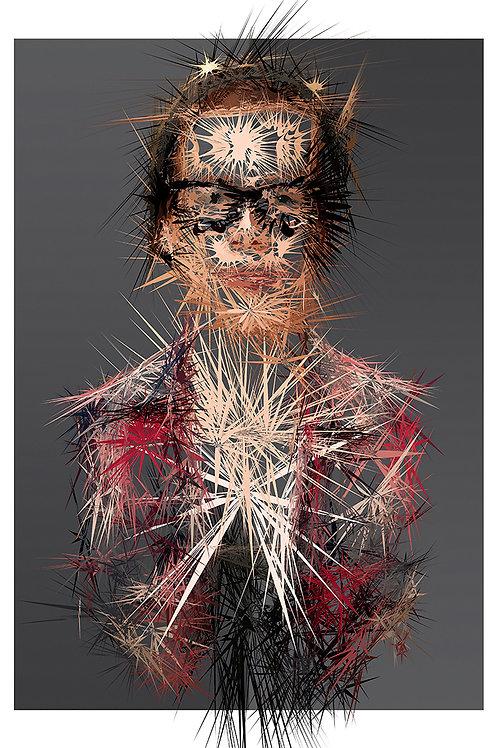 Hip portrait, Digital art, urban artwork by Andrea Visconti at Deep West Gallery