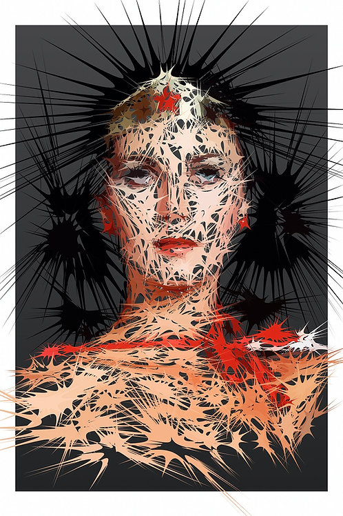 American Heroine portrait, Digital art, urban artwork by Andrea Visconti at Deep West Gallery