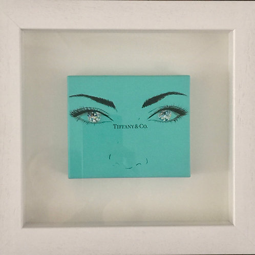 Tiffany boxlid sparkling eyes original painting on canvas from Anne-Marie Ellis Contemporary art artwork at Deep West Galle