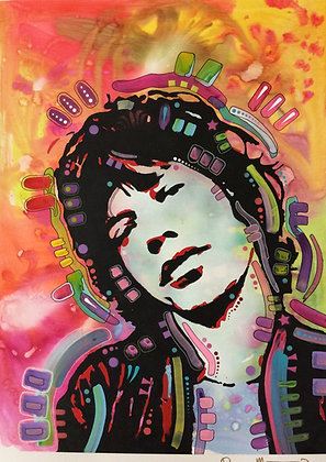 Mick Portrait Spray painting, Street art by Dean Russo at Deep West Gallery