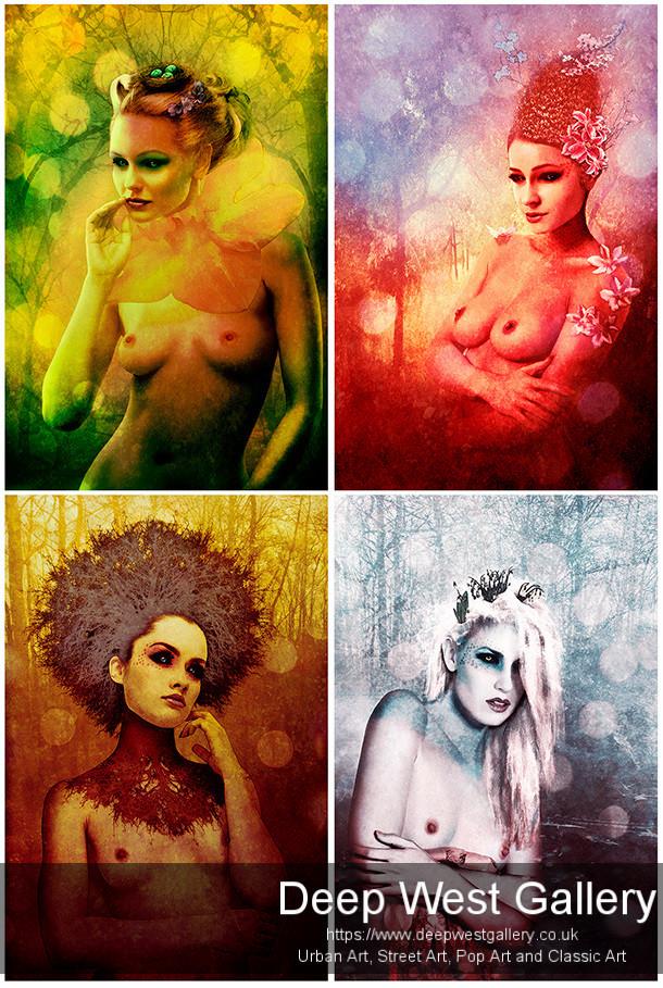 four sexy beauty, four seasons