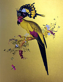 Butterflies, flowers and birds print, Urban and Street art by Kristjana S Williams at Deep West Gallery