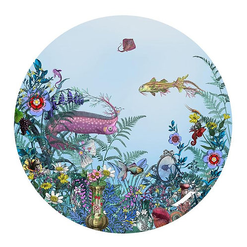 circular sea born tree print, Urban and Street art by Kristjana S Williams at Deep West Gallery