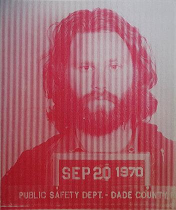 Jim Morrison Silk print, urban art by David Studwell at Deep West Gallery