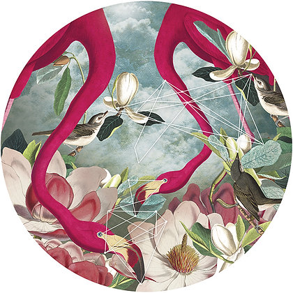 flamingos, birds, flowers and lakes, Street art, Urban art from Alexandra Gallagher at Deep West Gallery