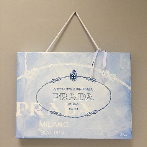 Italian version Prada bag original painting on canvas from Anne-Marie Ellis Contemporary art artwork at Deep West Galle