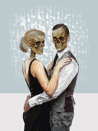 hybrid  human couple print from Paul Kingsley Squire Urban art artwork at Deep West Gallery