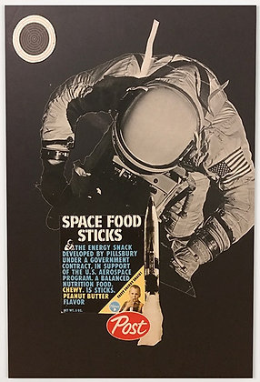 spaceman  print from Phil Bedford, Urban (collage ) art artwork at Deep West Gallery