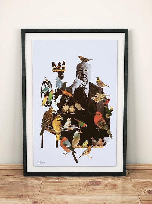 collage, bird, artworks