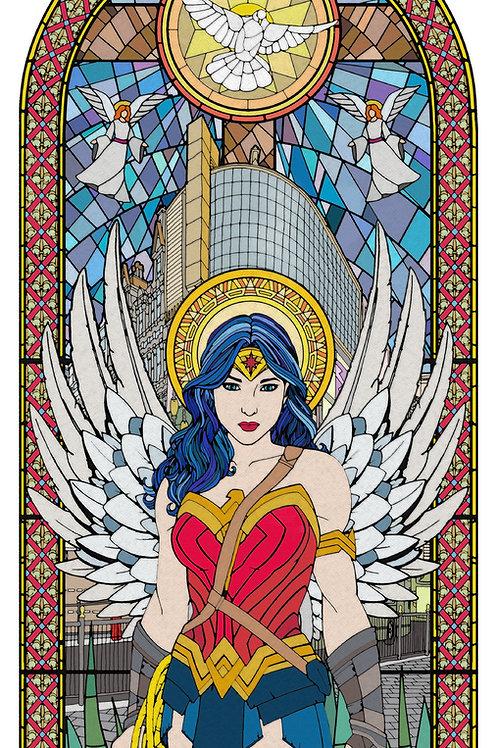 Wonderwoman, Diana Prince, Star wars  from Gary John Jones digital artwork at Deep West Gall