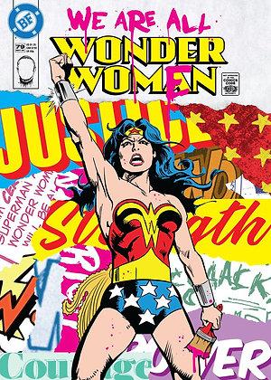Wonder Women comic  portrait, Giclee print, Pop art, by Bareface at Deep West Gallery