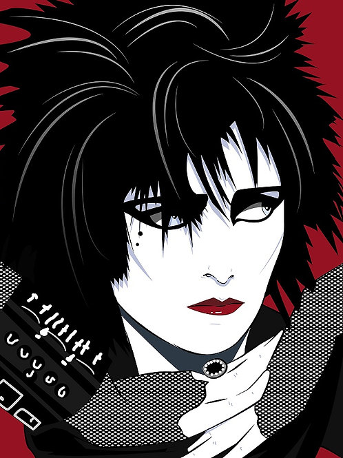 Siouxsie female portrait print and original work , Pop art by Agent X at Deep West Gallery