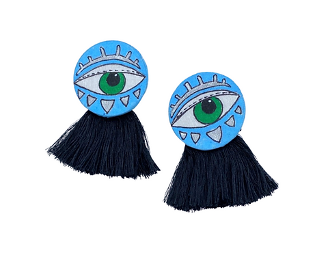 Nazar Hand Painted Earrings