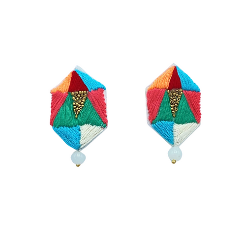 Hexa Embroidered Earrings