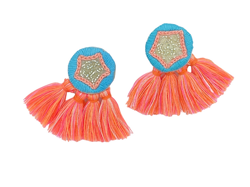 Sitara Embroidered Earrings