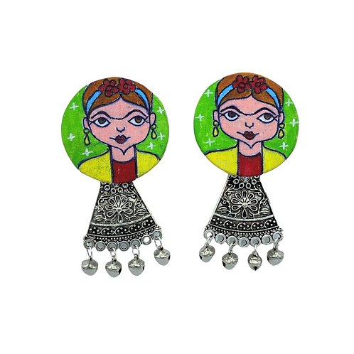 Frida Hand Painted Earrings
