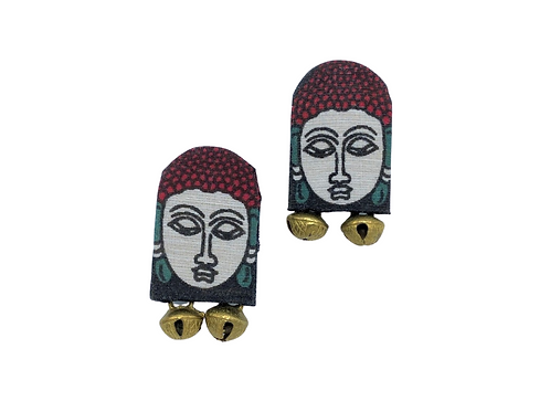 Buddha Hand Painted Earrings