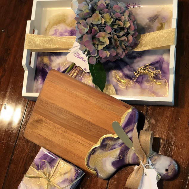 Purple house warming package
