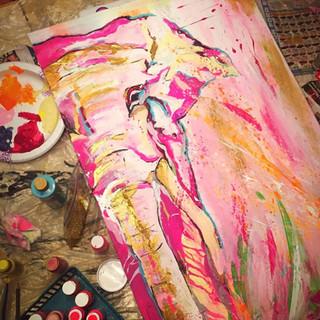 """Jungle Elephant 24""""x36"""""""