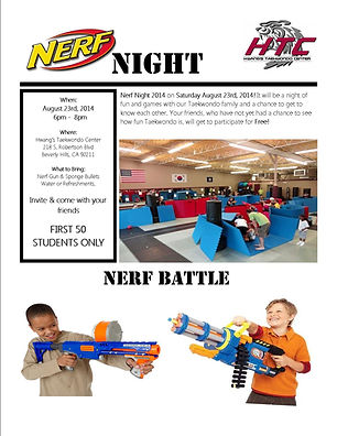 Neft Night Parents Night Out Event at Hwang's Taekwono Center