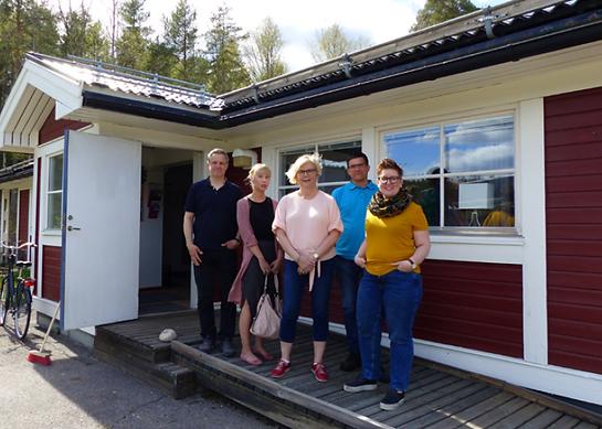 Stefan Lindgren, Madelene Westbom, Ann-Louise Norén, Tommy Isaxon och Malin Lejon l