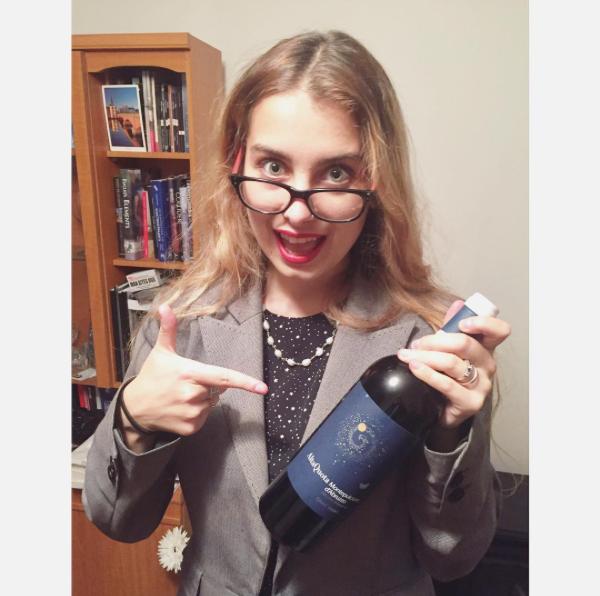 galaxy inspired bottle of wine