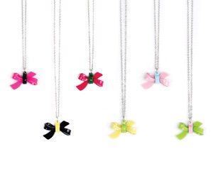 APJ - MINI Bow Necklace set of 12 - AP6002-3
