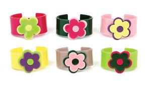 APJ - Modern Flower Kids Cuff set of 6 - AP2012