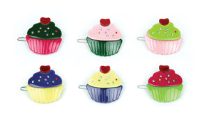 APJ - Cupcake Hairclips set of 6 - AP4005