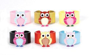 APJ - Baby Owl Kids Cuff set of 6 - AP2021