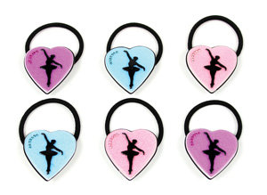 APJ- Love to Dance Ponytail Hold set of 6 - AP9027