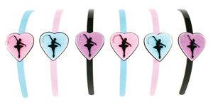 APJ - Love to Dance Hairband set of 6 - AP3027