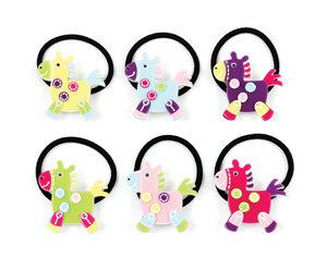 APJ - Pretty Pony Pony Tail Holder set of 6