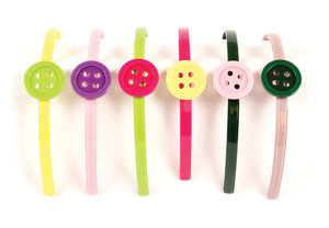 APJ - Button Hair Band Set of 6 - AP3003