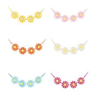 APJ - Daisy Chain Necklace Set of 6 - AP6026-2