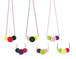 APJ - Button Necklace Set of 6 - AP6003