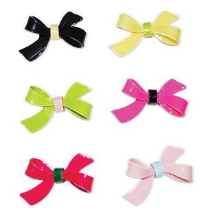 APJ - Bow Hairclip Set of 6 - AP4002